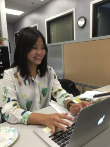 Boalt 2L, Michelle Kim, hard at work during her Summer Internship at ALA