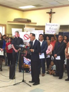 Richard Konda, ALA Executive Director, and other community advocates at the San Jose press conference following the U.S. v. Texas decision.