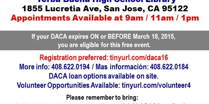 FREE DACA RENEWAL WORKSHOP