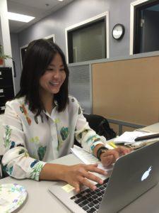 Boalt 2L, Michelle Kim, hard at work during her Summer Internship at ALA